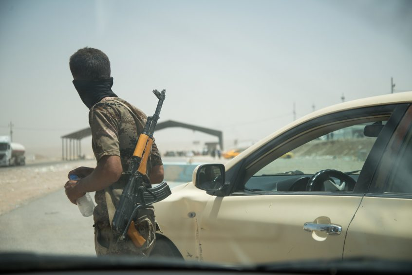 Checkpoint in the KRG, Iraq.