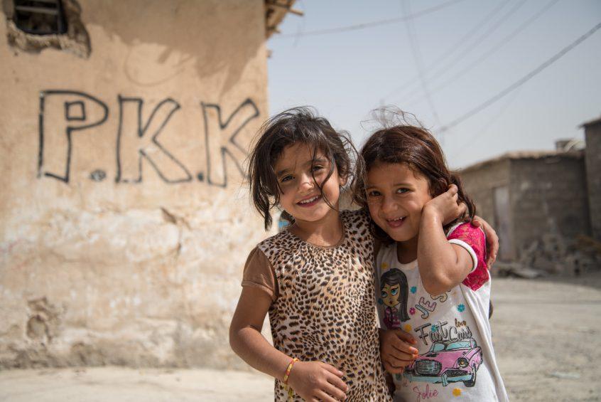 PKK Graffiti in a refugee camp in Iraq.