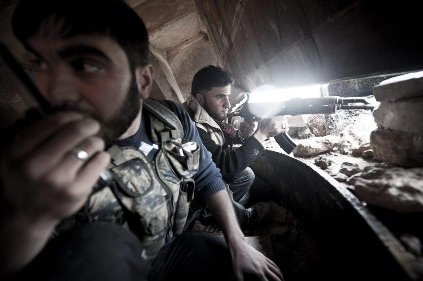 Frontline in Aleppo, Syria, 2012.